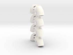 Bullhorns 1/12 5 inch in White Processed Versatile Plastic