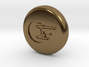 Polaroid Photo Display Button in Polished Bronze