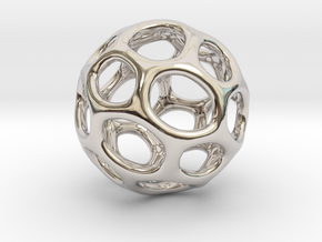 Gaia-25-wide (from $19.90) in Rhodium Plated Brass