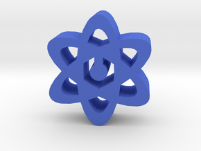 Game Piece, Atoms in Blue Strong & Flexible Polished