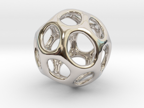 Gaia-20 (from $18.90) in Rhodium Plated Brass