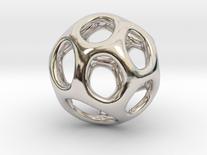 Gaia-16 (from $16.90) in Rhodium Plated Brass