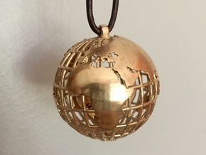 Wanderlust Globe Pendant in Natural Bronze