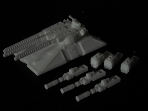 MG144-HE004 Eques Battle Tank in White Strong & Flexible