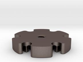 Star heatsink 20mm for KRCNC2 side ports in Polished Bronzed Silver Steel