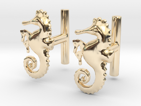 Chapter 3: He is giving birth! Cufflinks in 14K Yellow Gold
