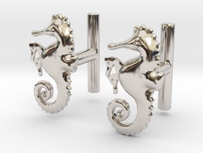 Chapter 3: He is giving birth! Cufflinks in Rhodium Plated Brass