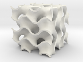 gyroid 2 periods in White Natural Versatile Plastic