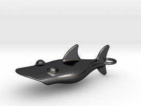 Little Shark Bottle Opener in Polished and Bronzed Black Steel