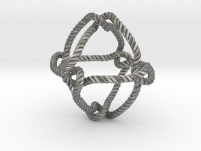 Octahedral knot (Rope with detail) in Natural Silver: Medium