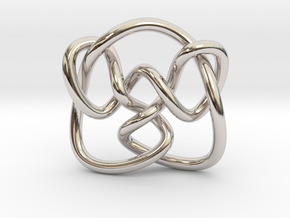 Knot 8₁₅ (Circle) in Rhodium Plated Brass: Extra Small