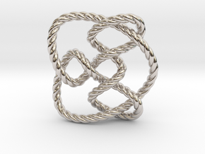 Knot 8₁₅ (Rope) in Rhodium Plated Brass: Extra Small
