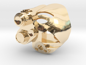 Kanohi Akaku in 14k Gold Plated Brass