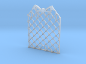 Grid Fin Coaster in Smooth Fine Detail Plastic