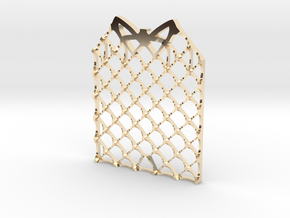 Grid Fin Coaster in 14K Yellow Gold