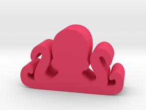 Game Piece, Octopus in Pink Processed Versatile Plastic