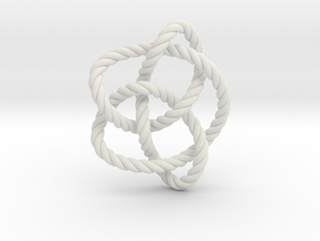 Knot 8₁₆ (Rope) in White Natural Versatile Plastic: Extra Small