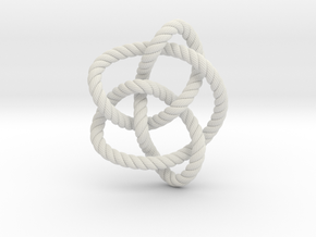Knot 8₁₆ (Rope with detail) in White Natural Versatile Plastic: Large