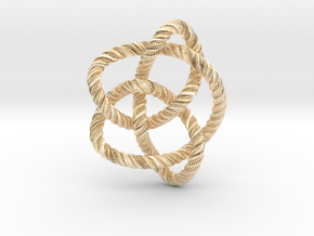 Knot 8₁₆ (Rope with detail) in 14k Gold Plated Brass: Large