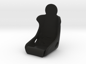"Race Seat P934 ""Lollipop"" Type - 1/10 in Black Natural Versatile Plastic"
