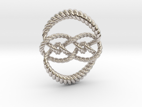 Knot 10₁₂₀ (Rope) in Rhodium Plated Brass: Extra Small