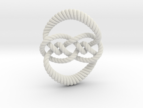 Knot 10₁₂₀ (Rope with detail) in White Natural Versatile Plastic: Large