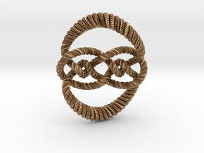 Knot 10₁₂₀ (Rope with detail) in Natural Brass: Large