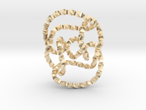 Knot 10₁₄₄ (Twisted square) in 14k Gold Plated Brass: Extra Small