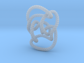 Knot 10₁₄₄ (Rope with detail) in Smooth Fine Detail Plastic: Large