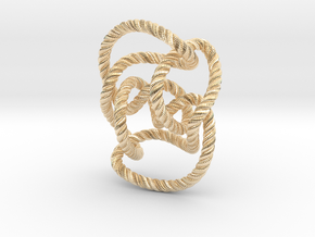 Knot 10₁₄₄ (Rope with detail) in 14K Yellow Gold: Large