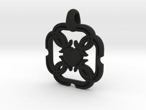HEART PENDANT in Black Natural Versatile Plastic