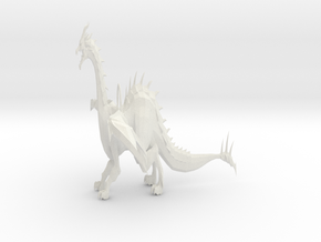 Dragon Keychain in White Natural Versatile Plastic