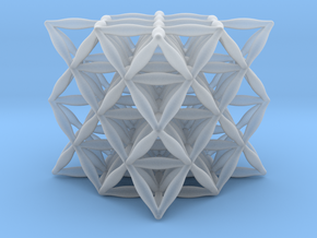 """Flower Of Life 64 Tetrahedron Grid 1.2"""" in Smooth Fine Detail Plastic"""