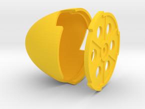 BF-109 spinner late 65mm diameter in Yellow Processed Versatile Plastic