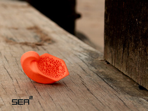 Sea² Hexagon Shell in Orange Processed Versatile Plastic