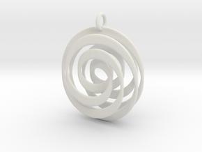 Mobius VI in White Natural Versatile Plastic
