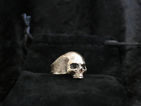 Silver Skull in Natural Brass