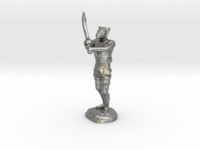 Tabaxi Blood Hunter in Leather Armor With Scimitar in Natural Silver