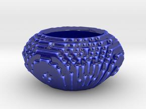Pixel Planter in Gloss Cobalt Blue Porcelain