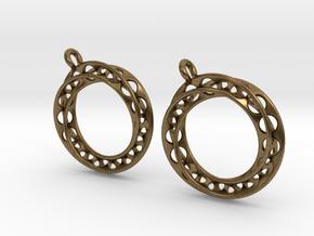 Möbius chain earrings in Natural Bronze