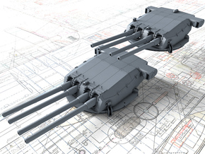 """1/350 Dunkerque 330 mm/50 (13"""") Model 1931 Guns in Smooth Fine Detail Plastic"""