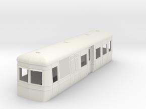 On16.5 Freelance short AW railcar body  in White Natural Versatile Plastic
