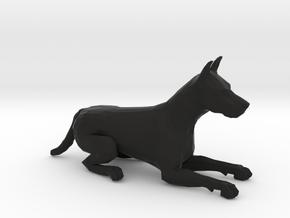 Dogs Lying Down in Black Natural Versatile Plastic: 1:22.5