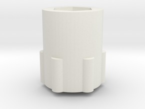 JConcepts Tribute Wheel 25mm Wide 14mm Hex Adapter in White Natural Versatile Plastic