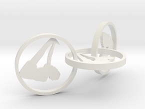 yoga jewelry earring in White Natural Versatile Plastic
