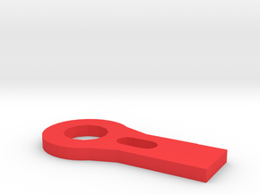 RC car tow hook in Red Processed Versatile Plastic