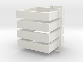 Parkhecke quadratisch (Buchsbaum) 4er Set 1:120 in White Strong & Flexible