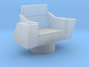 Bridge - Captain's Chair 32a (Model) in Smooth Fine Detail Plastic
