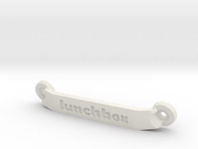 CW01 Chassis Brace - Rear - Lunchbox in White Premium Strong & Flexible