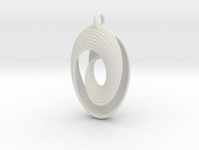Mobius VII in White Premium Versatile Plastic